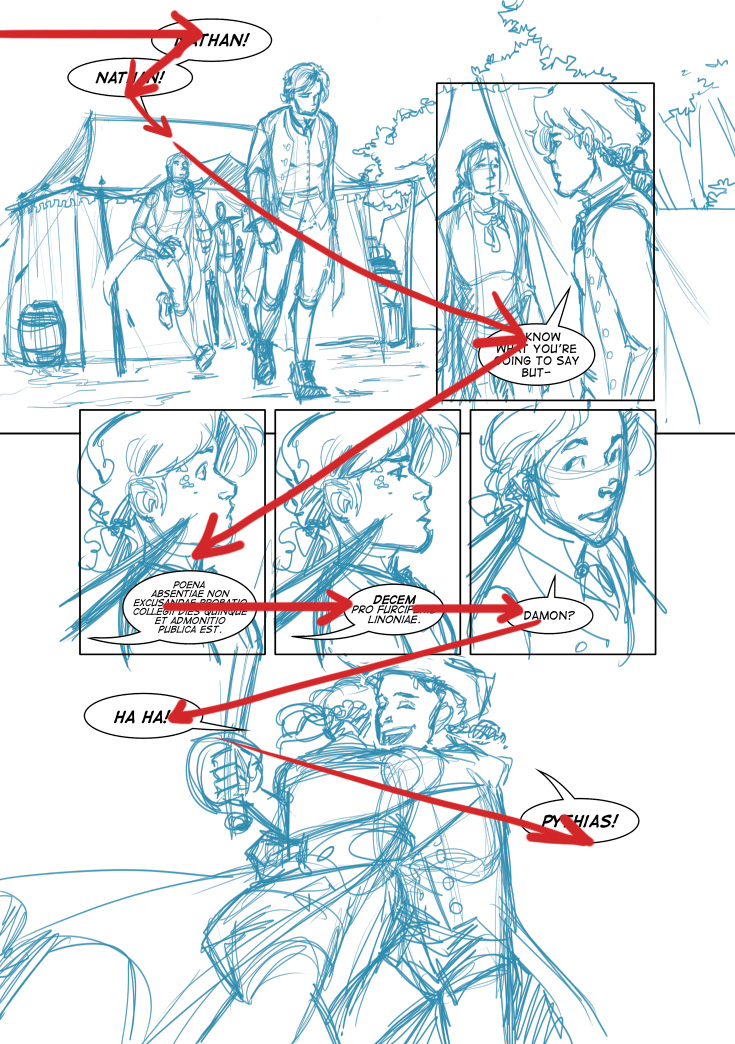 Comic layout tutorial comic balloons clarity for Draw website layout online