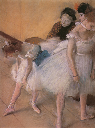 'Ballet Dancers Before The Rehearsal' by Edgar Degas