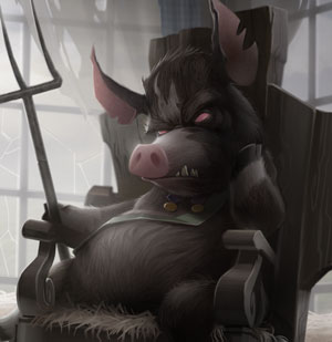 Detail image from Chris Oatley's 'Animal Farm' digital painting for ImagineFX Magazine. [ click to enlarge ]